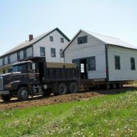 The Lehman Spring House arrived at Sonnenberg Village in May of 2010 and was parked next to the Lehman House while its new foundation was built