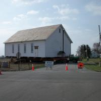 The historic Sonnenberg Church is moved to the Sonnenberg Village campus where it became the Welcome Center