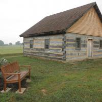 The Tschantz Log Cabin was completed by the fall of 2011